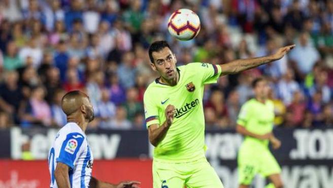 Sergio Busquets durante el encuentro entre el Barça y el Leganés