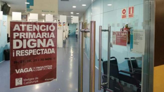El CAP Manso de Barcelona durante la huelga de médicos en la atención primaria.