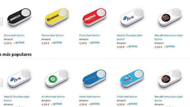 Imágenes de Dash Buttons de Amazon.