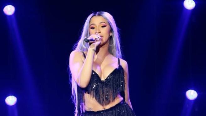 La rapera Cardi B en un concierto en noviembre de 2018