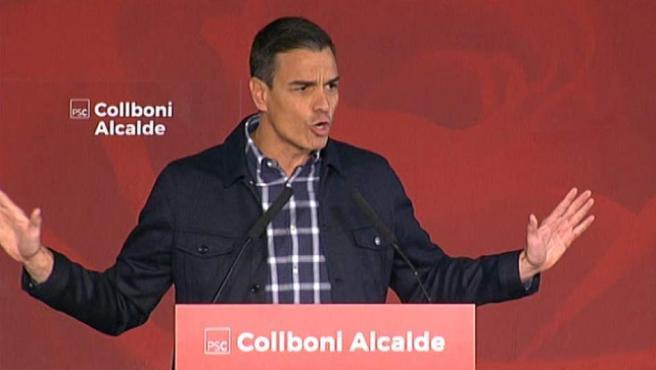 Pedro Sánchez, en un acto en Barcelona.
