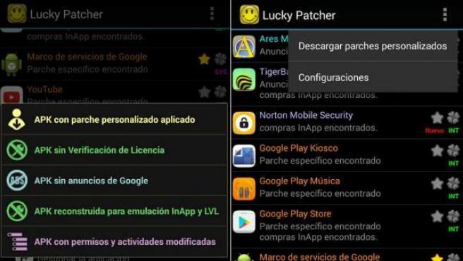 Imagen de la aplicación Lucky Patcher.