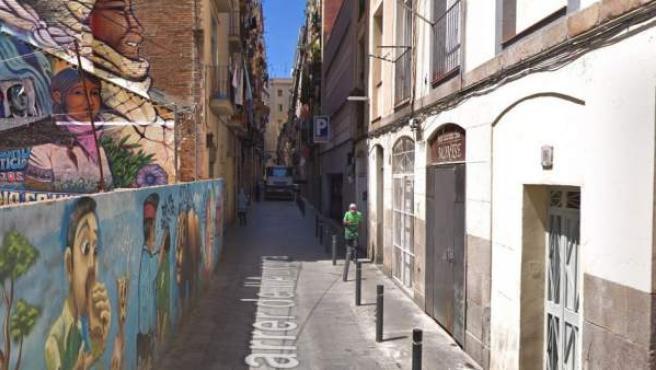 Imagen de la calle Aurora del barrio barcelonés del Raval.