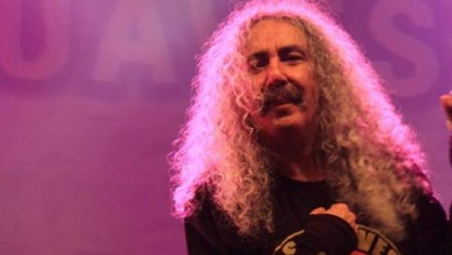 Imagen de archivo de Yosi Domínguez, cantante de la banda de rock Los Suaves.