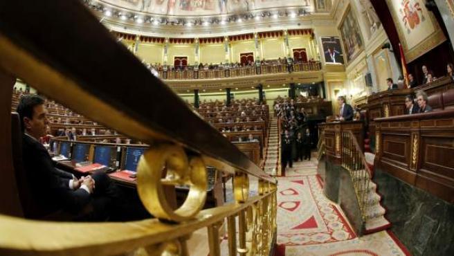 Una imagen dentro del Congreso de los Diputados.