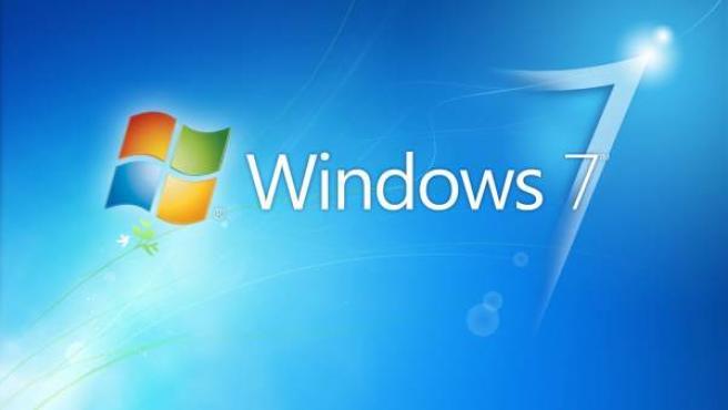 Fondo de escritorio con el logotipo de Windows 7.