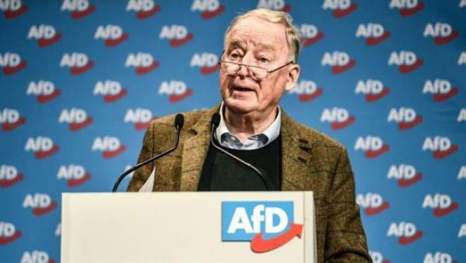 El copresidente de AfD Alexander Gaulan, durante una convención de la formación ultraderechista de cara a las elecciones europeas, en Riesa, Alemania.
