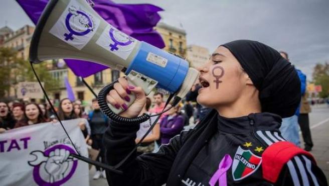 Manifestación contra la violencia machista en Barcelona