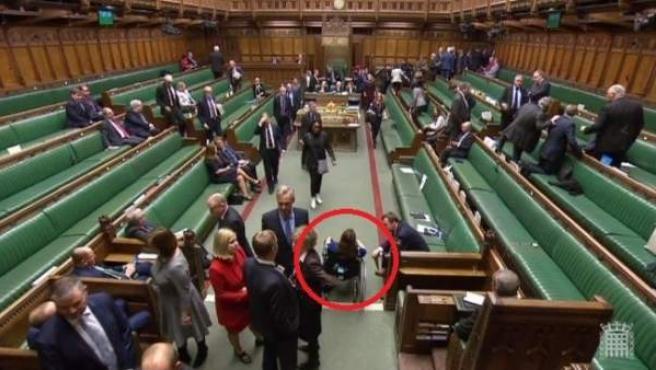 Captura de la televisión de la Cámara de los Comunes.