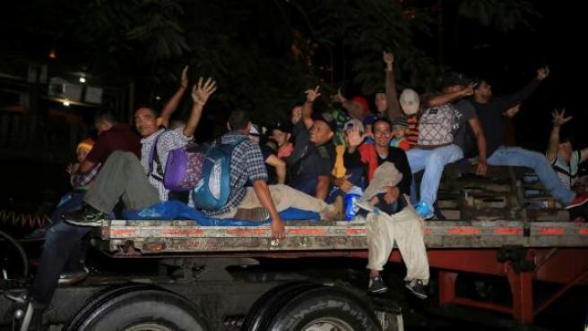 La caravana de migrantes hondureños a EE UU.