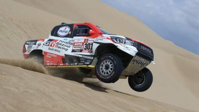 Nasser Al Attiyah, durante el rally Dakar 2019.