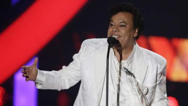 El cantante mexicano Juan Gabriel, en una entrega de premios el pasado mes de abril.
