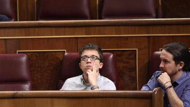 Íñigo Errejón y Pablo Iglesias, de Podemos
