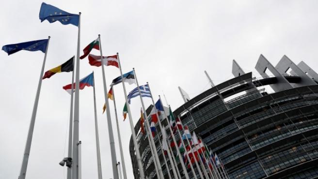 Vista general del exterior del Parlamento de Estrasburgo.