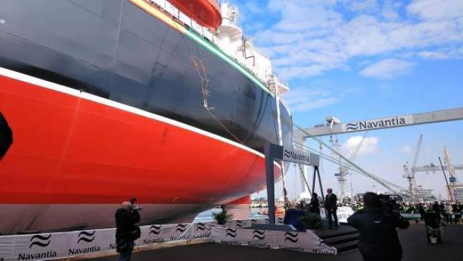Entrega del tercer petrolero Suezmax en los astilleros de Puerto Real