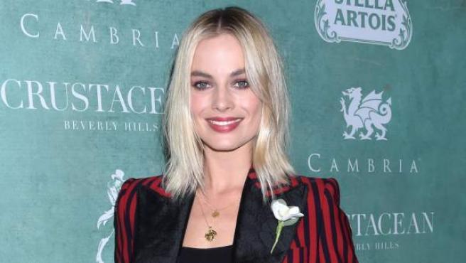 La actriz Margot Robbie en una gala previa a la gala de los Oscar.