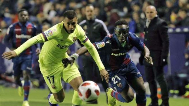 Partido de ida de la Copa del Rey entre Levante y Barcelona
