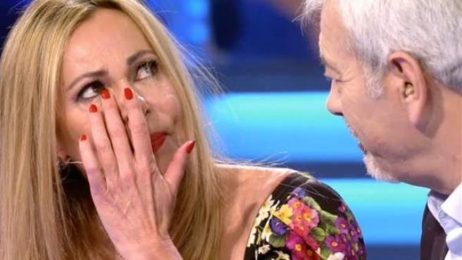Ana Obregón, emocionada en el programa 'Volverte a ver'.