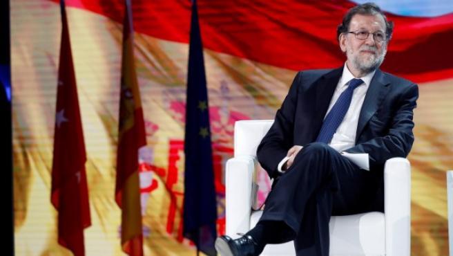 Mariano Rajoy este viernes en la inauguración de la Convención Nacional del PP.