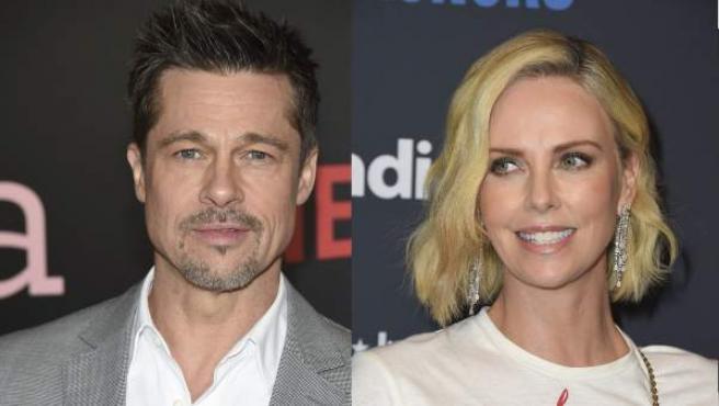 Brad Pitt y Charlize Theron, en un montaje de fotos recientes.