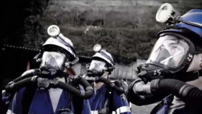 Miembros del Equipo de Rescate Minero.
