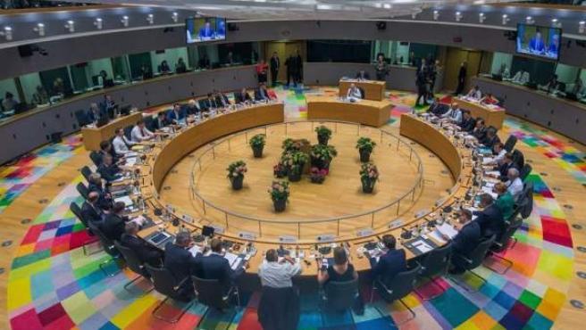 Vista general de la reunión del Consejo Europeo en Bruselas, Bélgica.