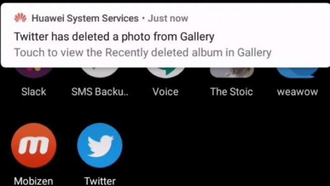 Algunos terminales Huawei eliminan imágenes descargadas de Twitter.
