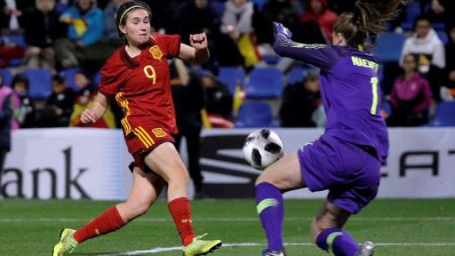 La selección española femenina, frente a Estados Unidos