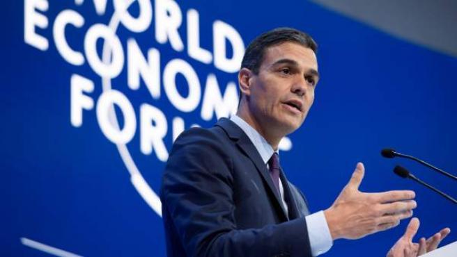 Pedro Sánchez en el Foro Económico Mundial de Davos.