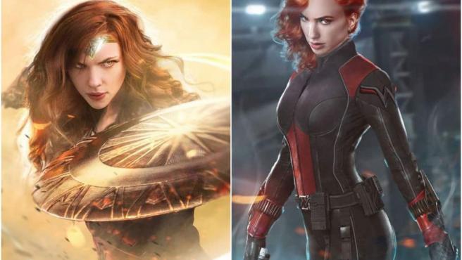 Este otro intercambio no nos gustaría tanto porque tanto Scarlett Johansson como Gal Gadot han hecho un gran trabajo interpretando a Viuda Negra y Wonder Woman, respectivamente.