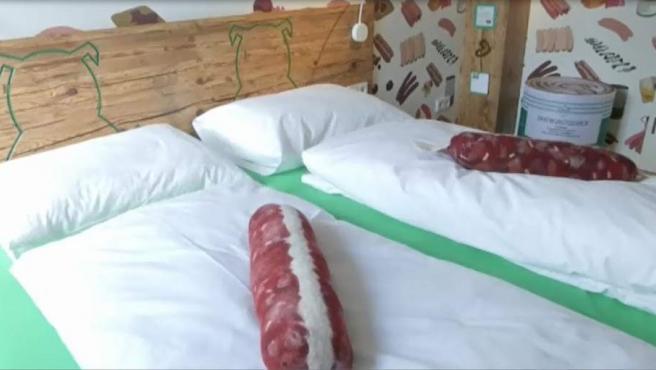 Hotel en homenaje a las salchichas en Baviera.