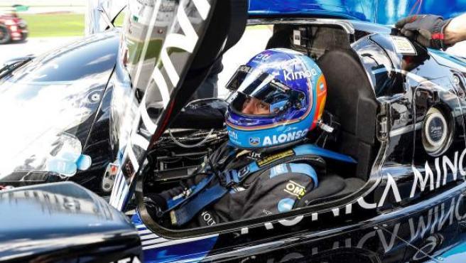 Fernando Alonso, durante las 24 horas de Daytona.