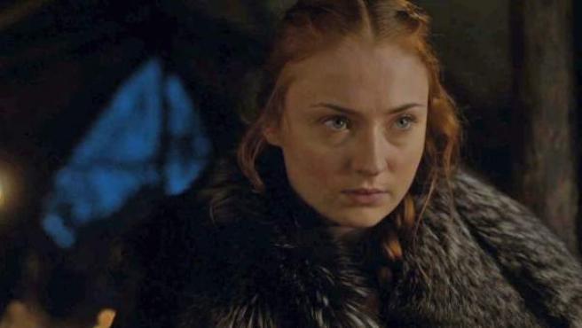 La actriz Sophie Turner, como Sansa Stark en 'Juego de tronos'.
