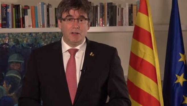 Declaración del expresidente Carles Puigdemont por el aniversario del 1-O.
