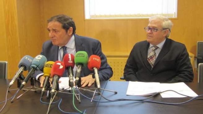 Sáez Aguado y Montero Moreno durante la rueda de prensa