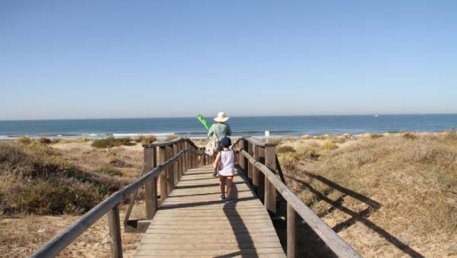 Playa onubense./archivo