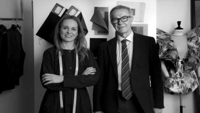 El ministro de Cultura y Deporte, José Guirao, y la diseñadora Ana Locking