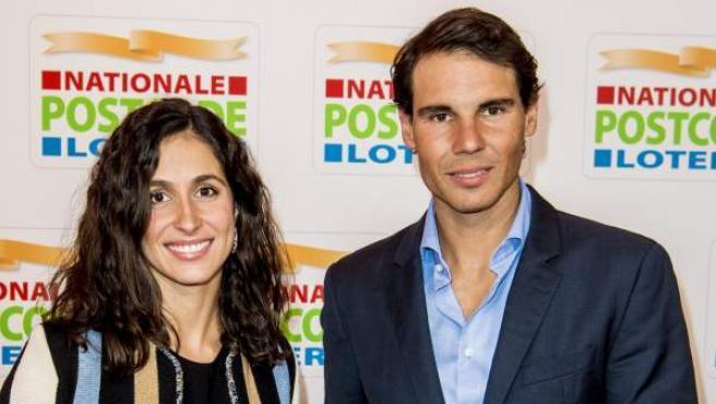 El tenista Rafa Nadal y su novia, Xisca Perelló, en 2018.