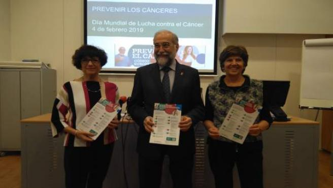 Nieves Ascunce, Fernando Domínguez y Margarita Echauri