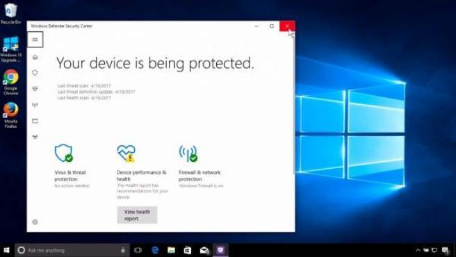 Imagen de Windows Defender.