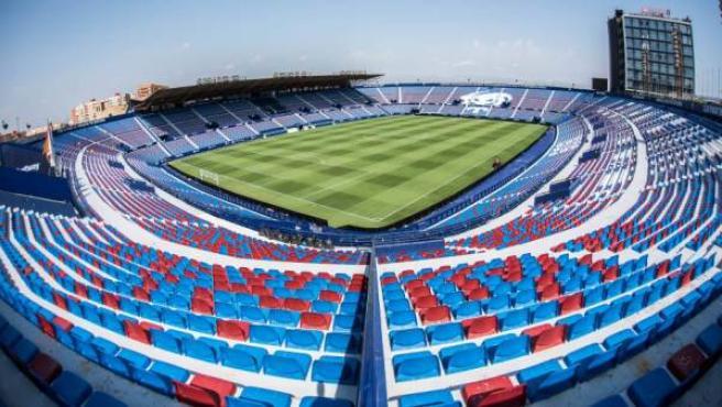 Interior del estadio Ciutat de Valencia