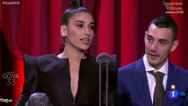 Carolina Yuste, ganadora del Goya a la Mejor Actriz de Reparto.