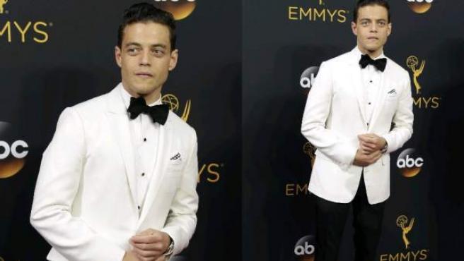 Rami Malek, una de las sorpresas de la noche, en la alfombra roja de los Emmy 2016.