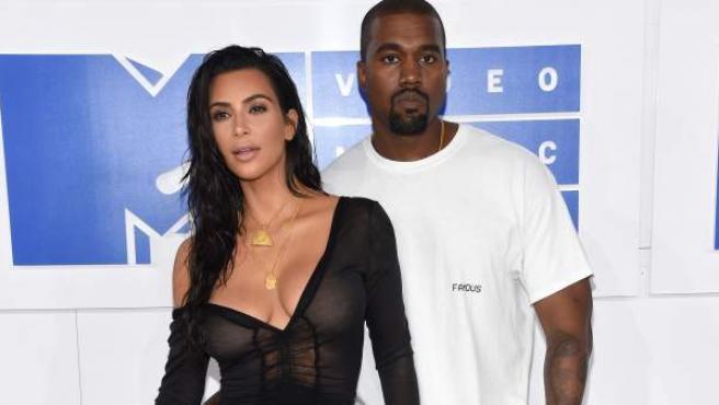 Kim Kardashian y Kanye West, en una imagen de archivo.