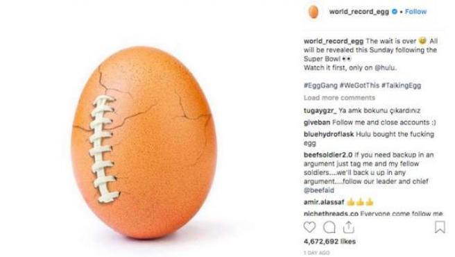 El huevo de Instagram lanza un mensaje en defensa de las personas con problemas de salud mental.