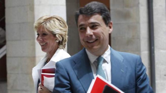 Ignacio González, junto a Esperanza Aguirre, en una imagen de archivo.