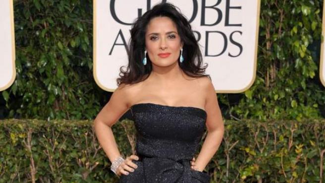 Salma Hayek en los Globos de Oro de 2013