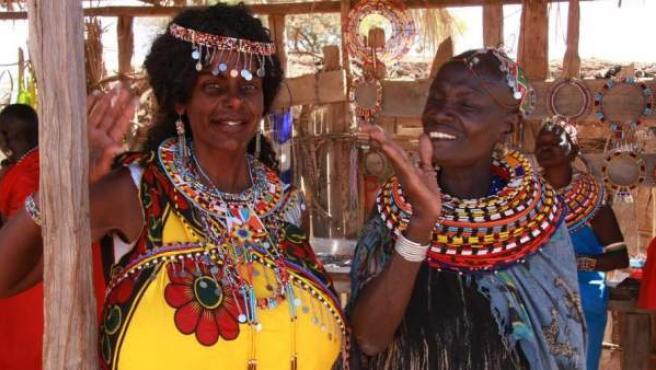 """La modelo Martina Big, en un viaje a Kenia tras su """"cambio de raza""""."""