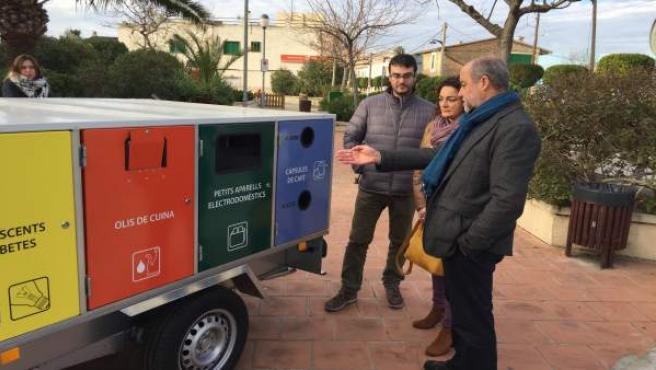 Inauguración punto de reciclaje móvil