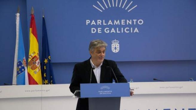 El portavoz del PPdeG en la Cámara gallega, Pedro Puy